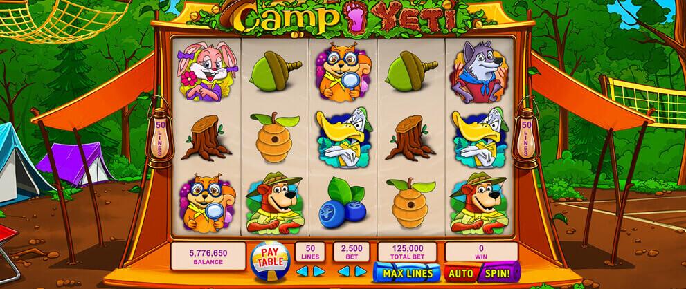 camp yeti free slots caesars casino