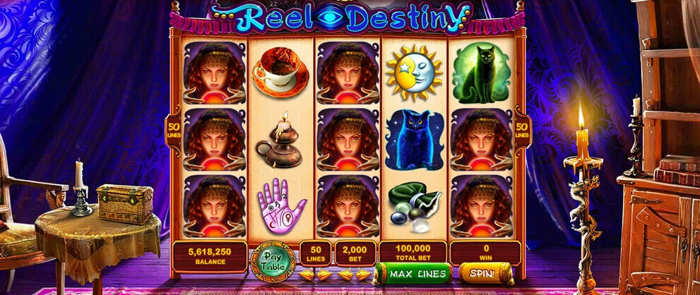 reel destiny slot machine caesars casino