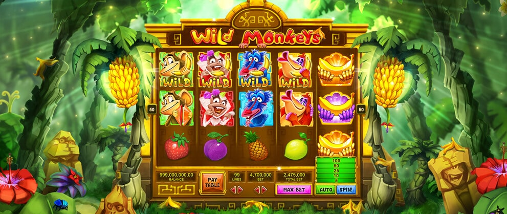 Jungle Monkeys Slots - Free Slot Machine Game - Play Now