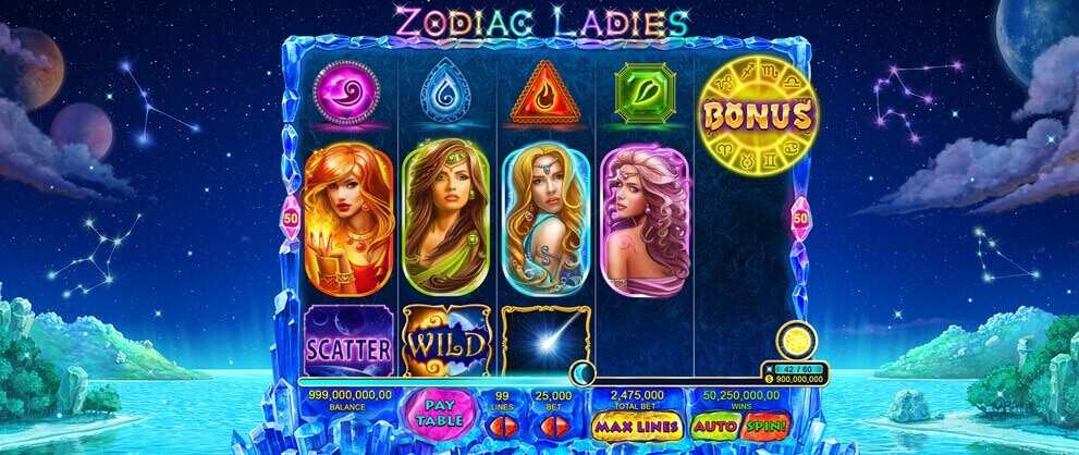 zodiac ladies free slot machine