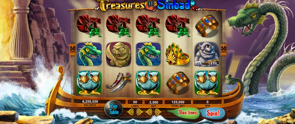 teasures of sinbad slot machine game casino casino caesars