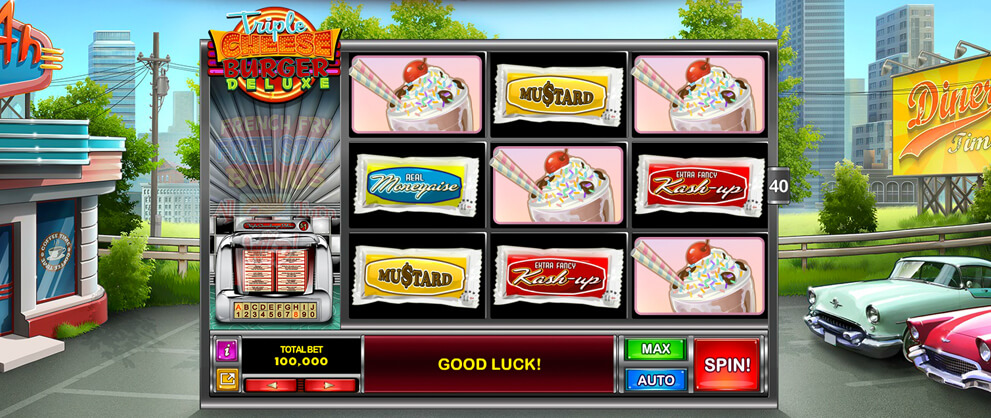 3D cheeseburger deluxe slots caesars casino