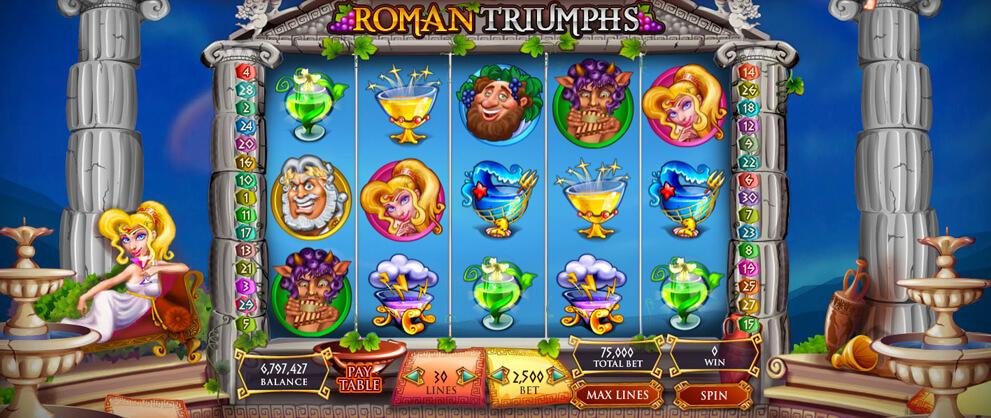 roman triumphs classic slots caesars casino