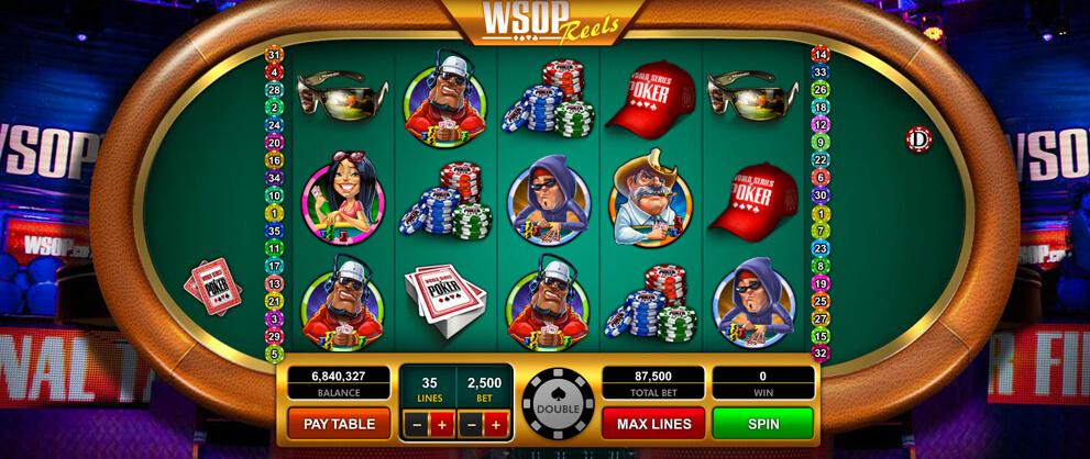 wsop reels classic slot game