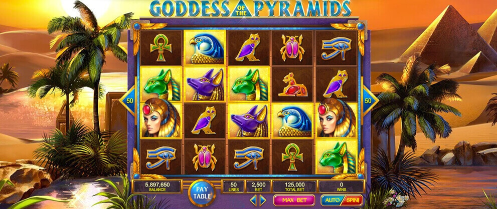 goddess pyramids slot machine caesars casino