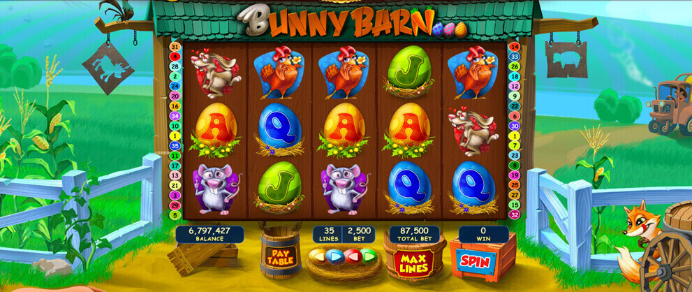 bunny barn classic slot game caesars casino