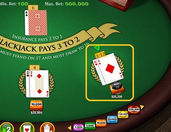Dealer has two aces in blackjack how much to bet roulette to get comps