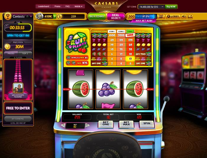 casino games fruit machine